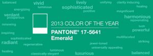 Pantone Emerald Green Color of 2013