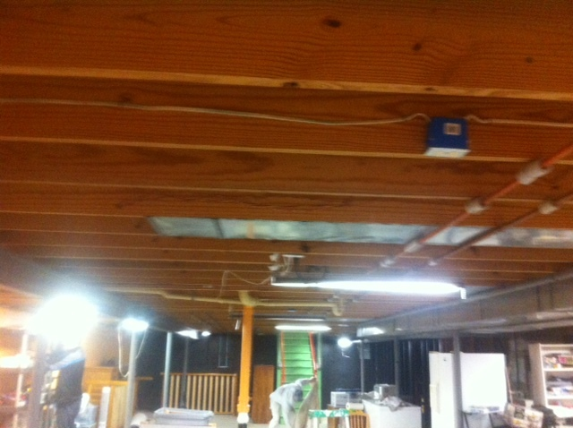 Exposed Wood Ceiling Painting In Chesterfield