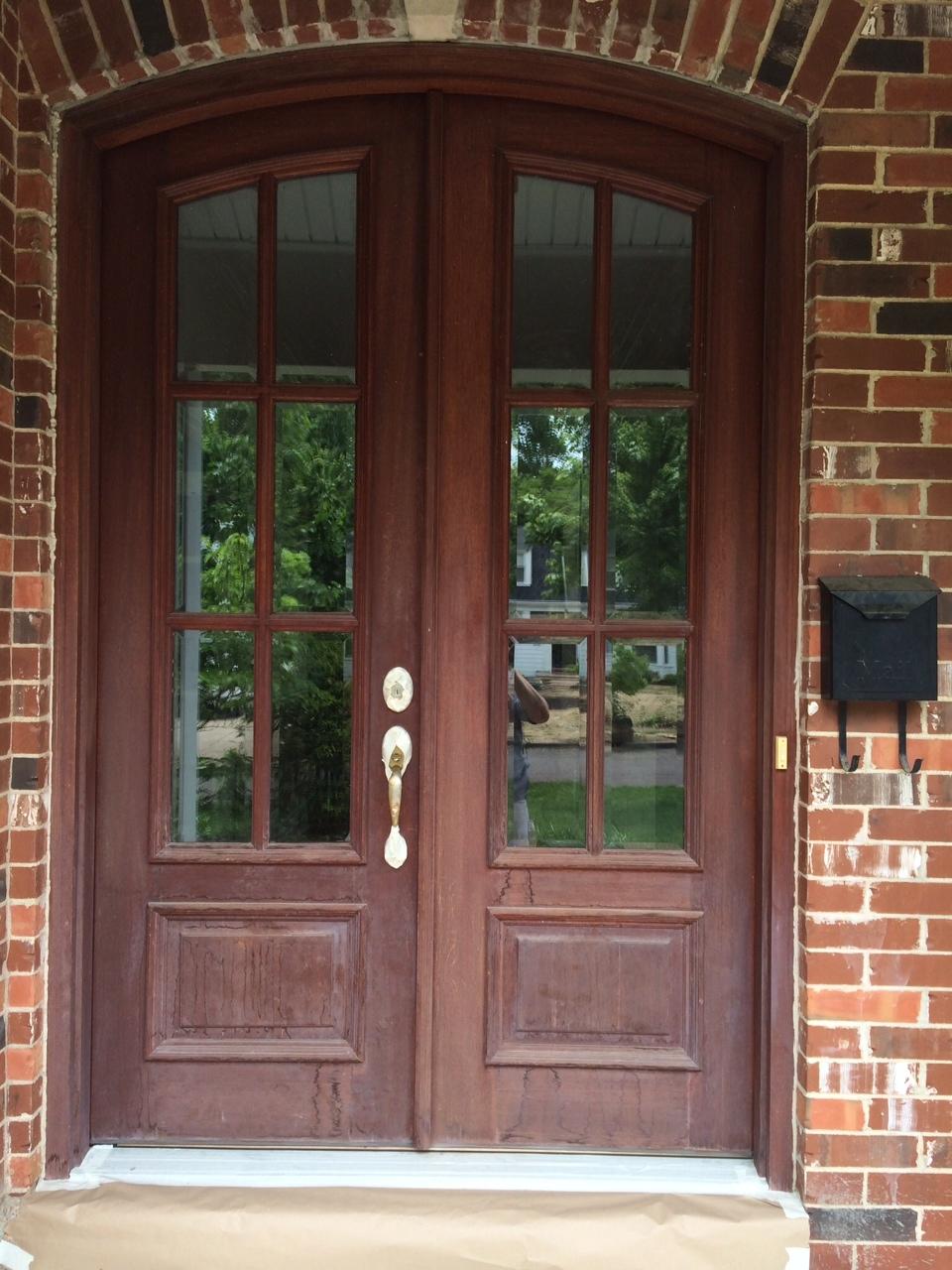 Front Door Rejuvenating In Glendale Kennedy Painting - Painting-an-exterior-door