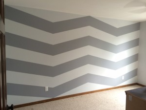 Chevron After Removing Tape