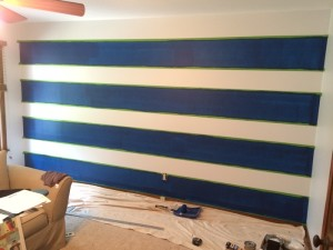 Stripes After Rolling/Painting