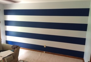Stripes After Removing Tape