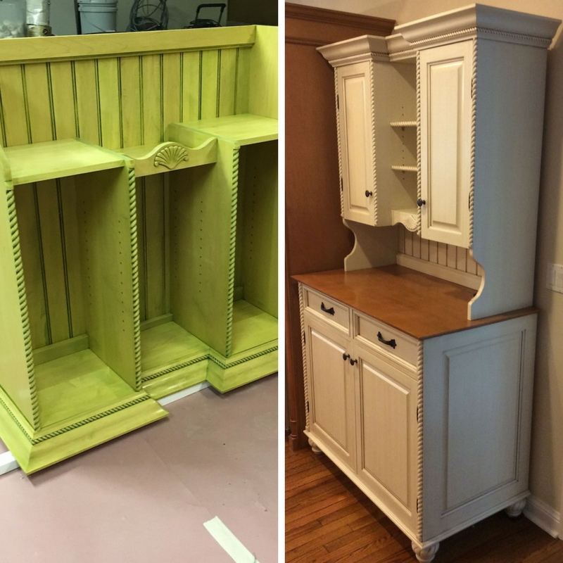 painting a kitchen hutch